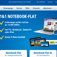 1&#038;1 Surfstick Notebook Flat