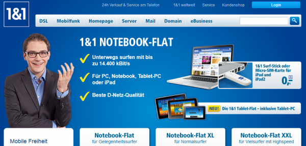 1&1 Surfstick Notebook Flat