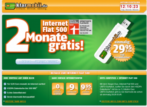 Klarmobil Internet Flatrate 500