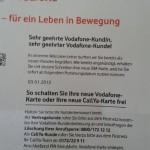 Brief von Vodafone mit Sim-Karte und Aktivierungsdatum